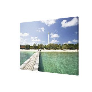 New Caledonia, Amedee Islet. Amedee Islet Pier. Canvas Print