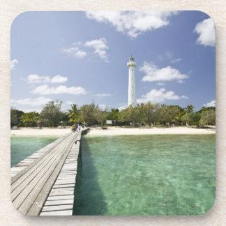New Caledonia, Amedee Islet. Amedee Islet Pier. Beverage Coaster