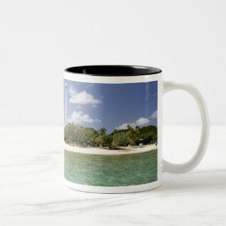 New Caledonia, Amedee Islet. Amedee Islet Pier. Two-Tone Coffee Mug