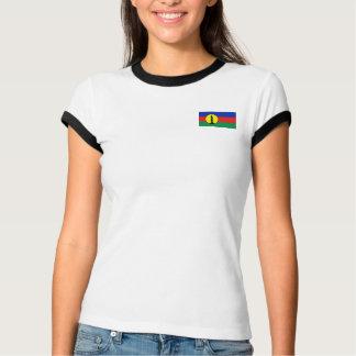 New Caledonia Flag + Map T-Shirt