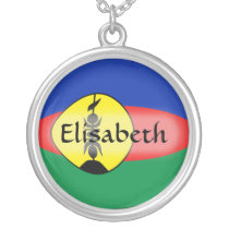 New Caledonia Flag   Name Necklace