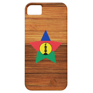 New Caledonia Flag Star on Wood iPhone 5 Case