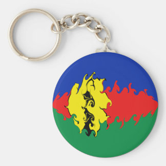New Caledonia Gnarly Flag Keychain
