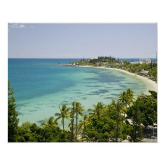 New Caledonia, Grande Terre Island, Noumea. Anse 2 Poster