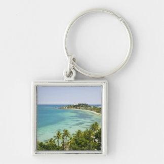 New Caledonia, Grande Terre Island, Noumea. Anse 2 Silver-Colored Square Keychain