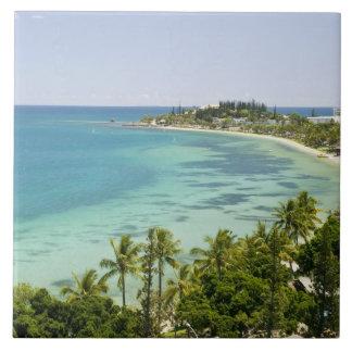 New Caledonia, Grande Terre Island, Noumea. Anse 2 Large Square Tile