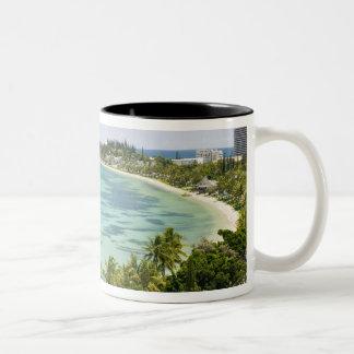 New Caledonia, Grande Terre Island, Noumea. Anse 2 Two-Tone Coffee Mug