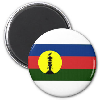 New Caledonia Kanaky Local Flag 2 Inch Round Magnet