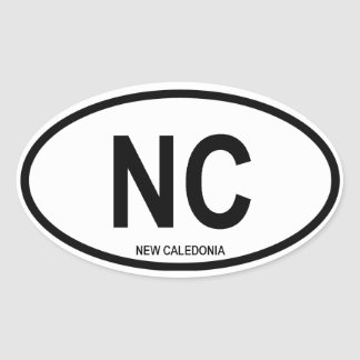 """New Caledonia """"NC"""" Oval Stickers"""