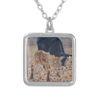 New Calf Silver Plated Necklace