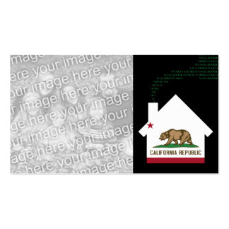 new california address Double-Sided standard business cards (Pack of 100)