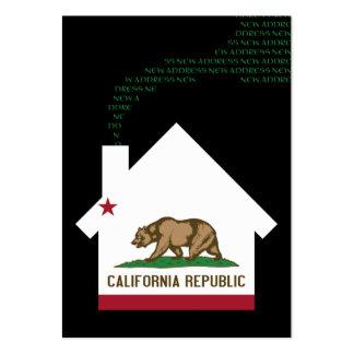 new california address large business card