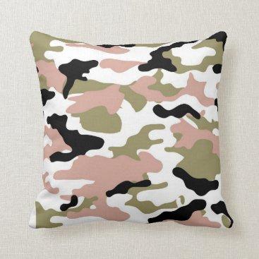 New Camo Throw Pillow