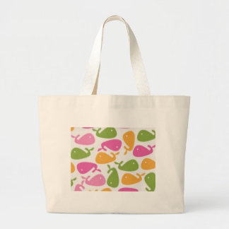 new canaan whales large tote bag