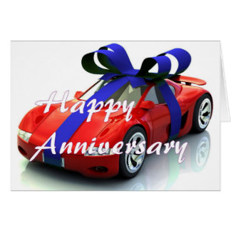 New car anniversary card