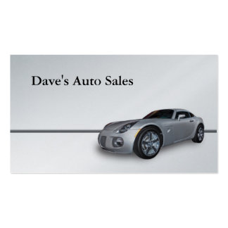 New Car Double-Sided Standard Business Cards (Pack Of 100)