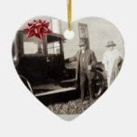 New car for Christmas! Funny old photo late 1920s Christmas Ornament