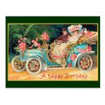 New Car Happy Birthday Fine Vintage Postcard