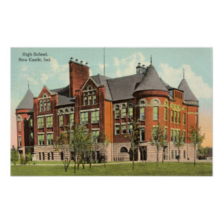 """New Castle, Indiana """"Castle"""" High School Poster"""