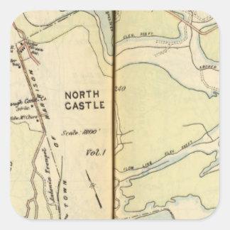New Castle, New York 3 Square Stickers