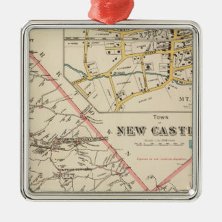 New Castle town Christmas Tree Ornament