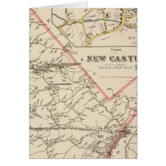 New Castle town Greeting Card