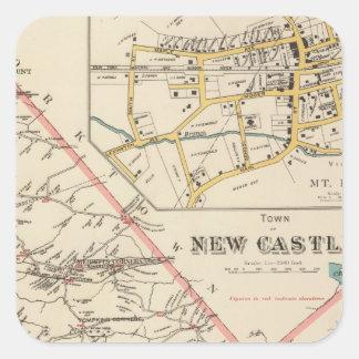 New Castle town Square Sticker