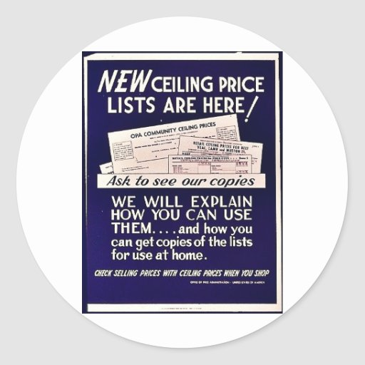 New Ceiling Price Lists Are Here! Classic Round Sticker