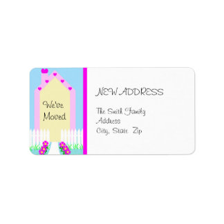 New Change of Address Label -- Cute House