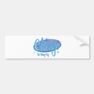 NEW-Chicago-Retro Bumper Sticker