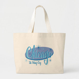 NEW-Chicago-Retro Large Tote Bag