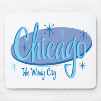 NEW-Chicago-Retro Mouse Pad
