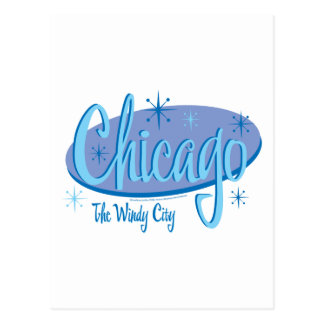 NEW-Chicago-Retro Postcard