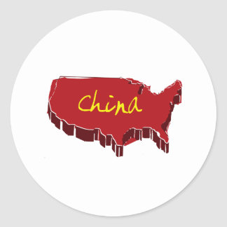 NEW CHINA ROUND STICKERS