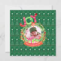 NEW Christmas Baby Photo Announcement Year Review