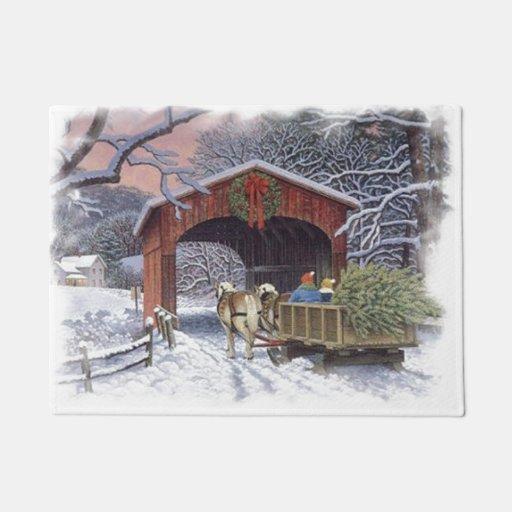 New Christmas Tree Doormat