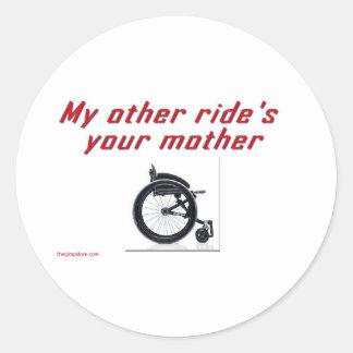 new classic round sticker