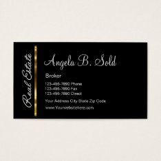 New Classy Real Estate Business Cards at Zazzle