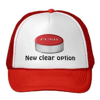 New clear option trucker hat