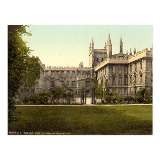 New College, Oxford, England Postcard