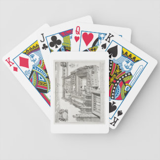New College, Oxford, from 'Oxonia Illustrata', pub Bicycle Playing Cards