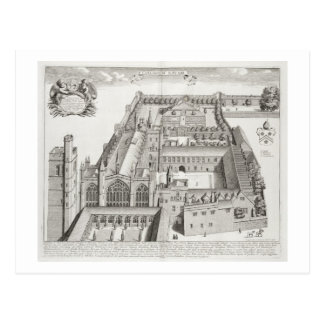 New College, Oxford, from 'Oxonia Illustrata', pub Postcard
