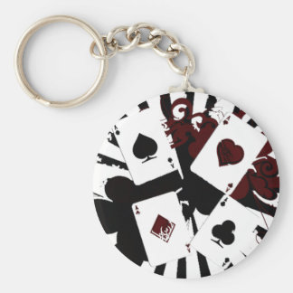 New color Vintage Aces Basic Round Button Keychain