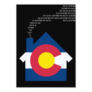 new colorado address 5x7 paper invitation card