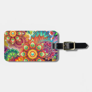 New Colorful Abstract BackGround Bag Tag