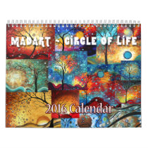 NEW Colorful MADART 2016 Circle of Life Calendar