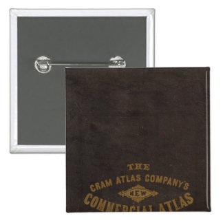 New commercial atlas, United States 2 Inch Square Button