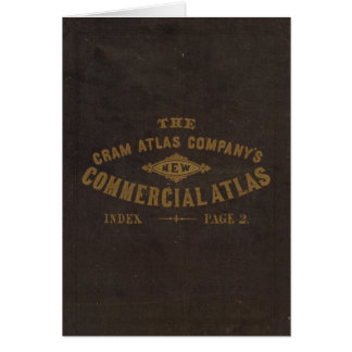 New commercial atlas, United States Greeting Card