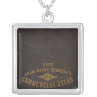 New commercial atlas, United States Square Pendant Necklace