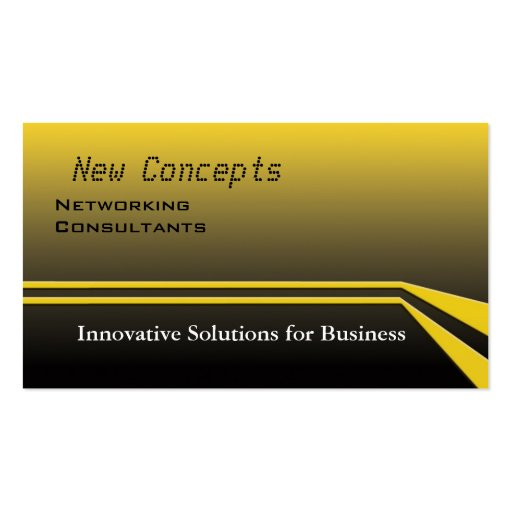 New Concepts Networking Consultants Business Card